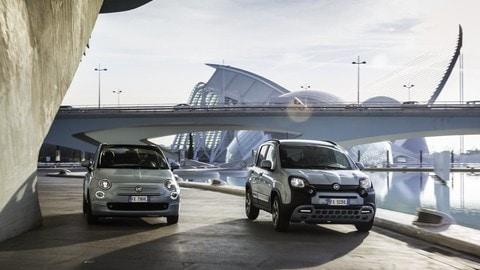 Fiat Panda e Fiat 500 Hybrid: foto