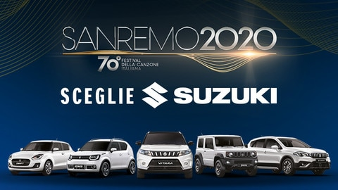 Suzuki auto ufficiale di Sanremo 2020 FOTO