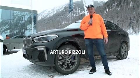 BMW X6: Rizzoli e la prova sul ghiaccio adrenalinica VIDEO