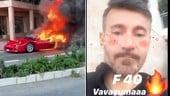 Ferrari F40 distrutta dalle fiamme sulle strade di Montecarlo