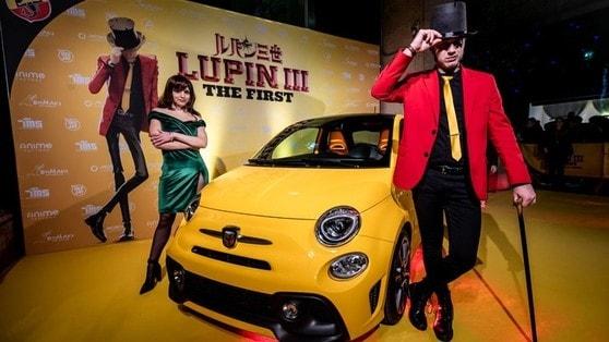 Fiat 500 Abarth 595: a Lupin III piace gialla e iconica
