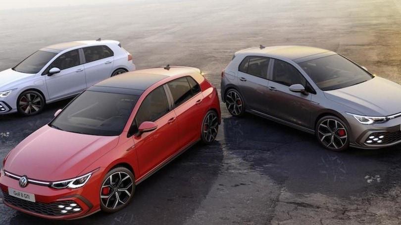 Volkswagen Golf GTI, GTD e GTE: le prestazioni e novità d'assetto