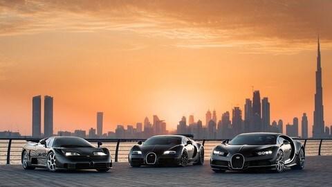 Bugatti, le tre regine di Dubai FOTO