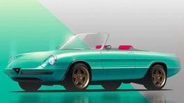 Alfa Romeo spider elettrica di Garage Italia FOTO