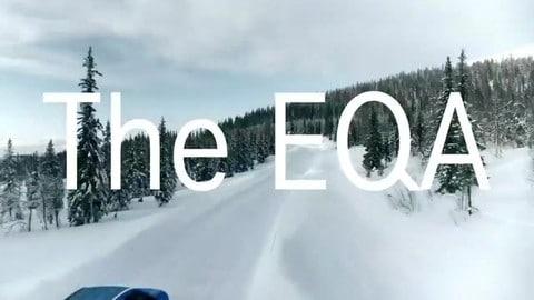 Mercedes EQA, test sulla neve per il SUV elettrico