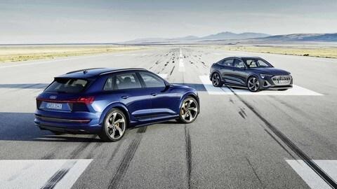 Audi e-Tron S, ecco la tre motori FOTO
