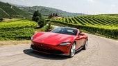Ferrari Roma, prova su strada