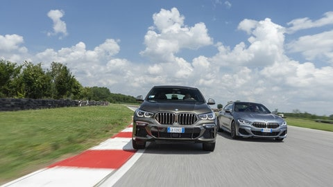 BMW X6 vs BMW Serie 8 Gran Coupé: FOTO