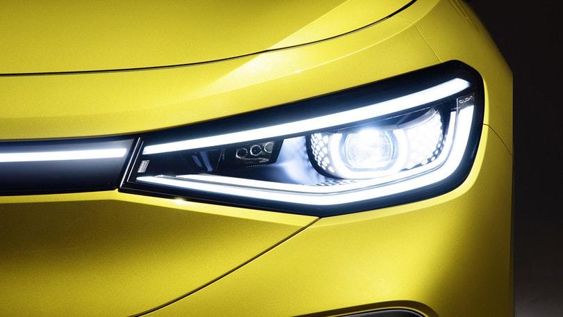 Volkswagen ID.4, la prima con i fari a LED 3D