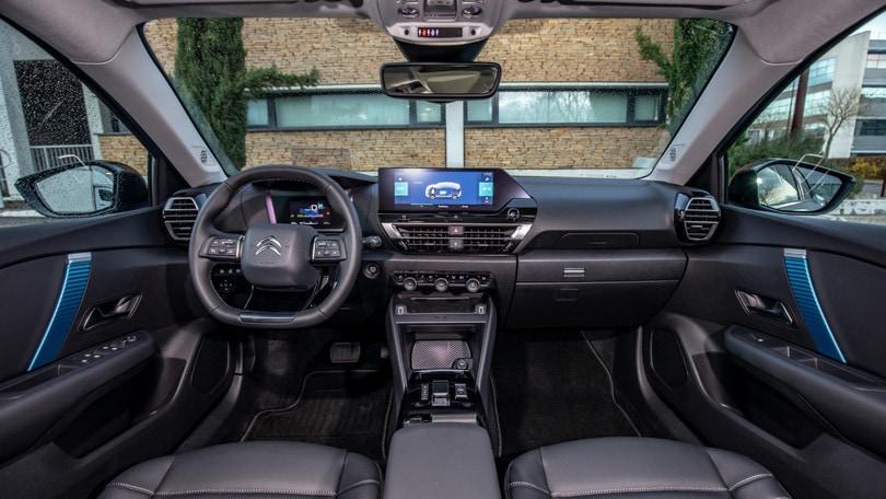 Citroën ë-C4, gli interni visti da vicino