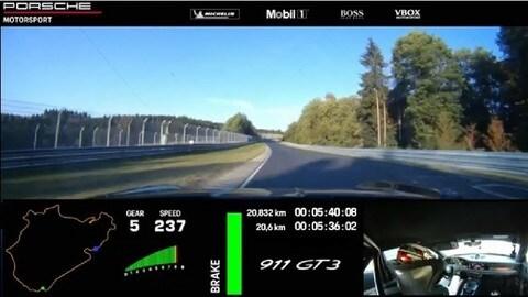 Porsche 911 GT3 al Nürburgring: l'on board