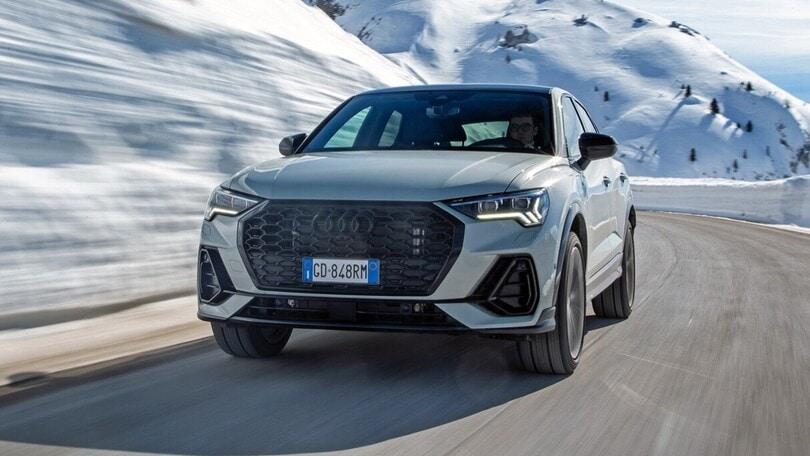 Audi Q3 Sportback TFSI e, il test sulle Dolomiti