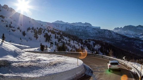 Audi Q3 Sportback TFSI e sulle Dolomiti
