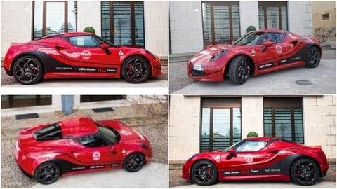 Alfa Romeo 4C: brivido supercar per gli allievi di un'autoscuola