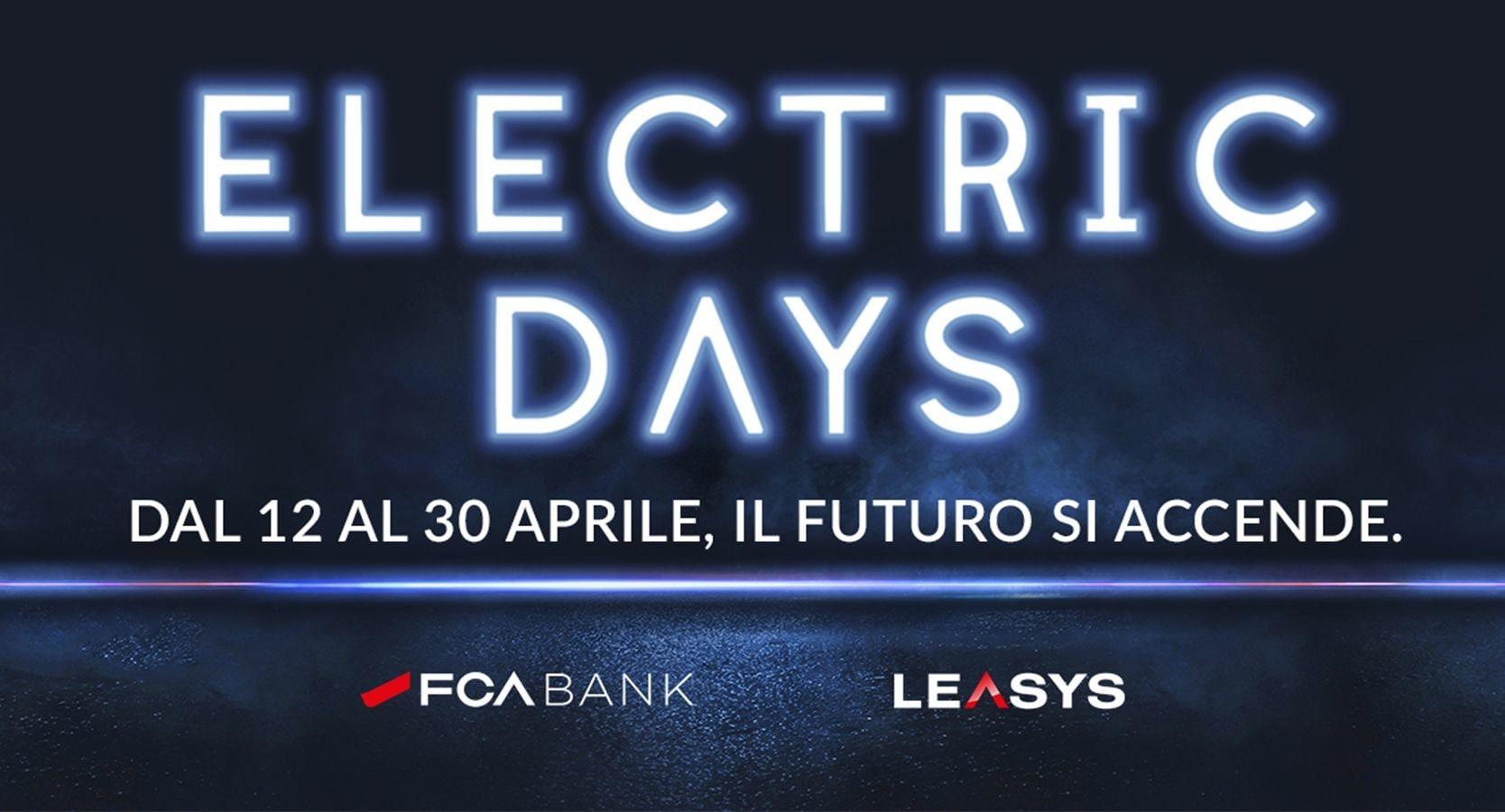 """FCA Bank e Leasys: le auto in promo dal 12 aprile con gli """"Electric Days"""""""