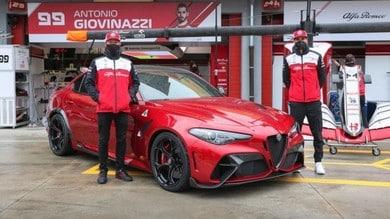 Alfa Romeo Giulia GTAm, la supersportiva ospite in pit lane ad Imola