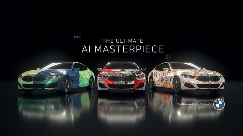 BMW, arte e AI si incontrano: la Serie 8 Gran Coupé diventa una tela
