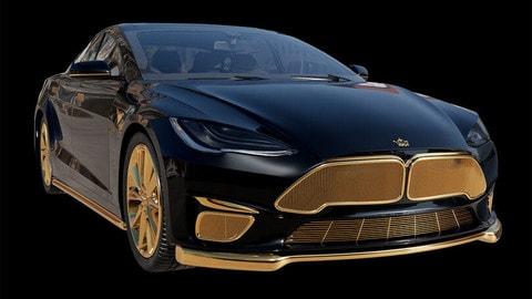 Caviar Model Excellence 24K, la Tesla nera e oro