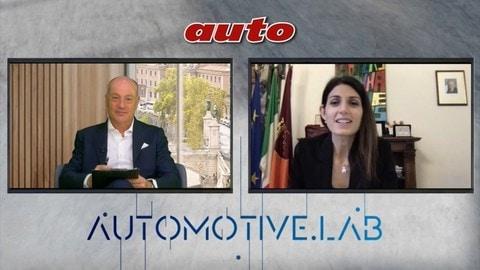 Virginia Raggi, Sindaca di Roma, ad AutomotiveLab