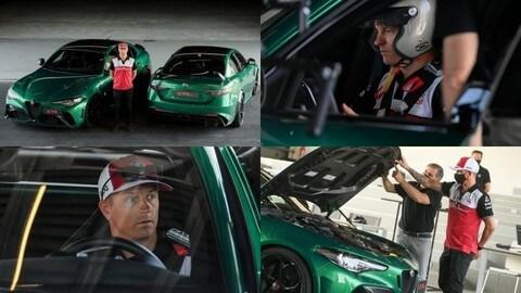 Raikkonen in pista con le versioni definitive di Alfa Romeo Giulia GTA e GTAm