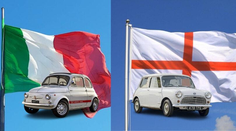 Italia-Inghilterra, la finale di Euro2020 è anche sulle quattro ruote
