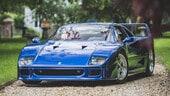 Ferrari F40, asta da più di 1 milione per un rarissimo esemplare blu dell''89