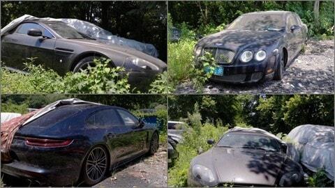 Corvette, Porsche e Bentley: in Cina c'è un cimitero di auto mozzafiato