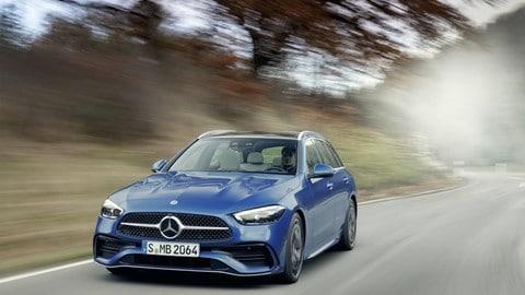 Mercedes Classe C station wagon, il Diesel ibrido ha molto da dire