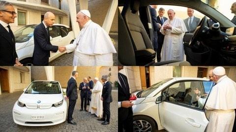 BMW i3: Papa Francesco riceve in dono l'elettrica tedesca