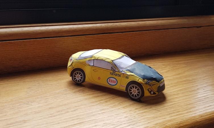 Toyota GT86, stampa i modellini da costruire in quarantena